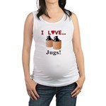 I Love Jugs Maternity Tank Top