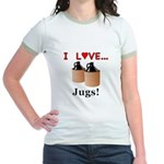 I Love Jugs Jr. Ringer T-Shirt