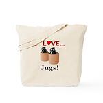 I Love Jugs Tote Bag