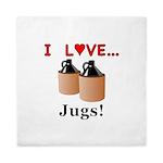 I Love Jugs Queen Duvet