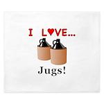 I Love Jugs King Duvet