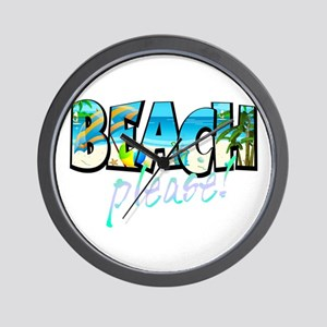 Kids Beach Please! Wall Clock