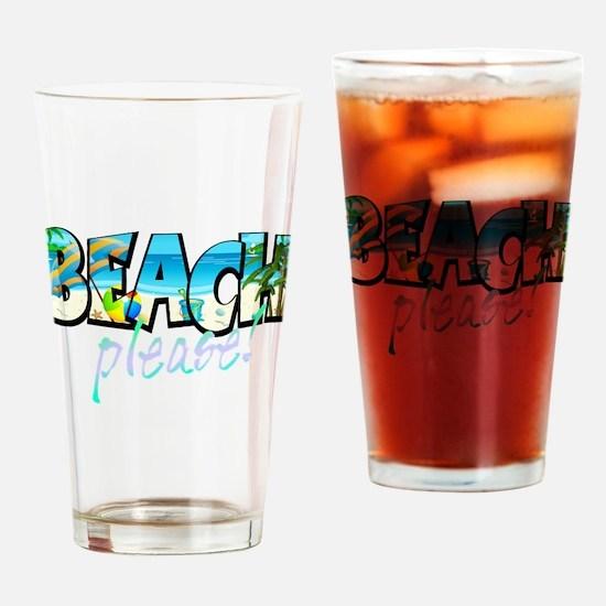 Kids Beach Please! Drinking Glass