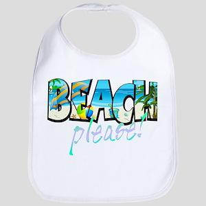 Kids Beach Please! Baby Bib