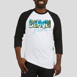 Kids Beach Please! Baseball Jersey