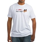 I Love Nice Jugs Fitted T-Shirt
