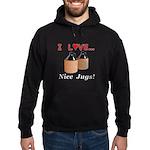 I Love Nice Jugs Hoodie (dark)