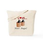 I Love Nice Jugs Tote Bag