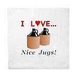 I Love Nice Jugs Queen Duvet