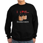 I Love Stoneware Sweatshirt (dark)