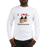 I Love Stoneware Long Sleeve T-Shirt