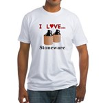 I Love Stoneware Fitted T-Shirt