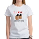 I Love Stoneware Women's T-Shirt