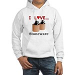 I Love Stoneware Hooded Sweatshirt
