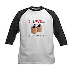 I Love Stoneware Kids Baseball Jersey