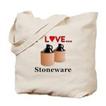 I Love Stoneware Tote Bag