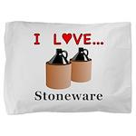 I Love Stoneware Pillow Sham