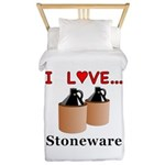 I Love Stoneware Twin Duvet
