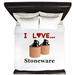 I Love Stoneware King Duvet