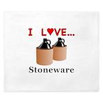I Love Stoneware King Duvet