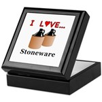 I Love Stoneware Keepsake Box