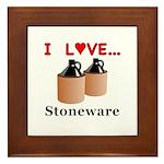 I Love Stoneware Framed Tile