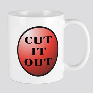 Cut It Out Button Mugs