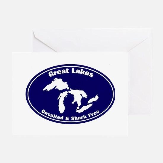 GREAT LAKES SHARK FREE Greeting Cards