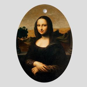 Leonardo's Mona Lisa Oval Ornament