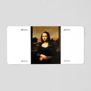 Leonardo's Mona Lisa Aluminum License Plate