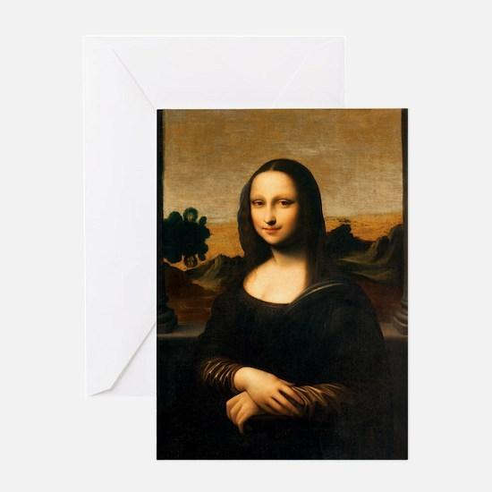 Leonardo's Mona Lisa Greeting Cards