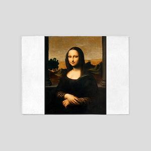 Leonardo's Mona Lisa 5'x7'Area Rug
