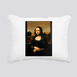 Leonardo's Mona Lisa Rectangular Canvas Pillow