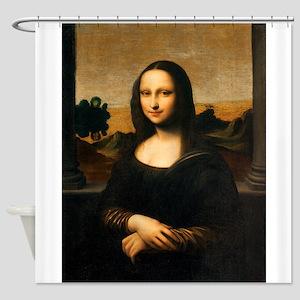 Leonardo's Mona Lisa Shower Curtain