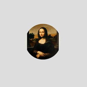 Leonardo's Mona Lisa Mini Button