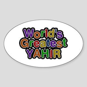 World's Greatest Yahir Oval Sticker