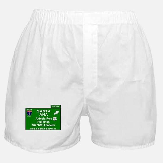 I5 INTERSTATE - CALIFORNIA - SANTA AN Boxer Shorts