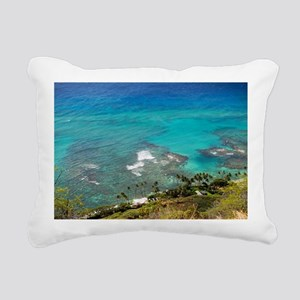 View from Diamond Head, Rectangular Canvas Pillow