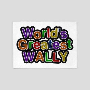 World's Greatest Wally 5'x7' Area Rug