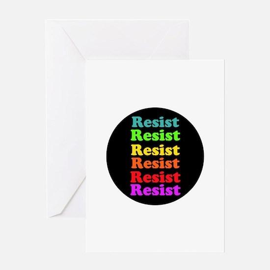 Resist Trump, gay pride Greeting Cards