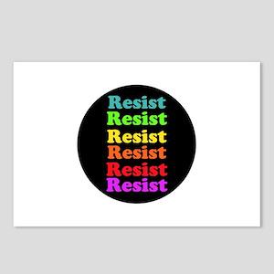 Resist Trump, gay pride Postcards (Package of 8)