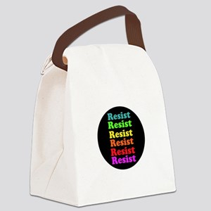 Resist Trump, gay pride Canvas Lunch Bag