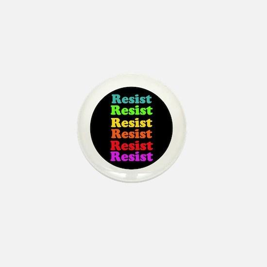 Resist Trump, gay pride Mini Button