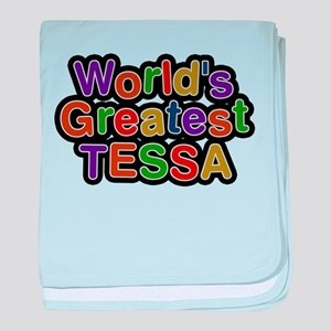Worlds Greatest Tessa baby blanket