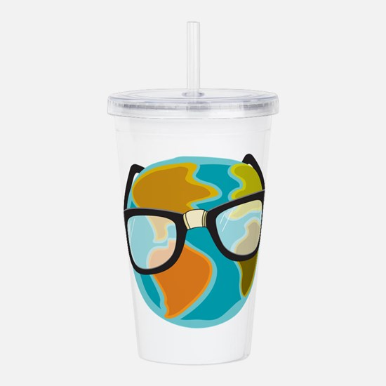 Nerds for the Earth Acrylic Double-wall Tumbler