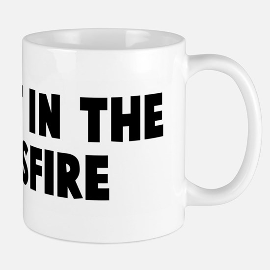 Caught in the crossfire Mug