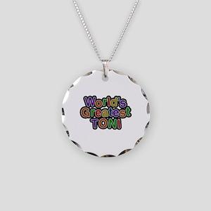 World's Greatest Toni Necklace Circle Charm