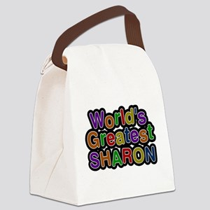 Worlds Greatest Sharon Canvas Lunch Bag