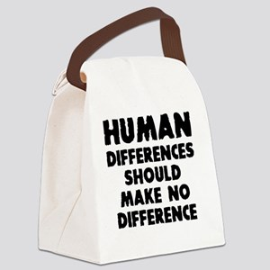 Human differences Canvas Lunch Bag