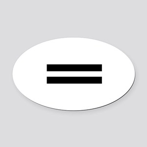 Equality Oval Car Magnet